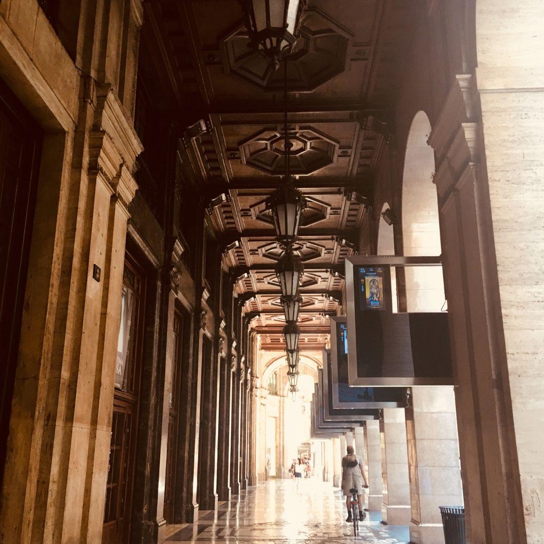 pretty walkway in milan