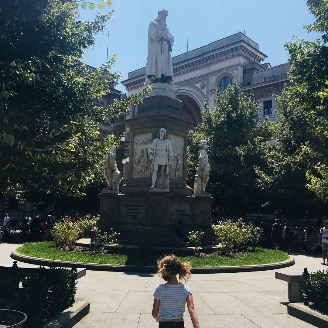 beautiful statue in Milan