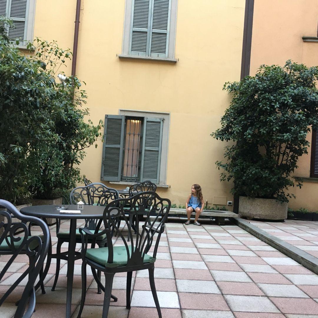 atrium at the hotel galles in milan