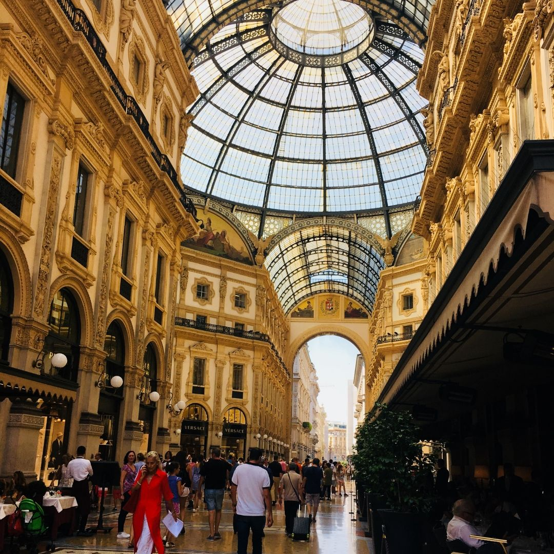 shopping centre near the duomo in milan