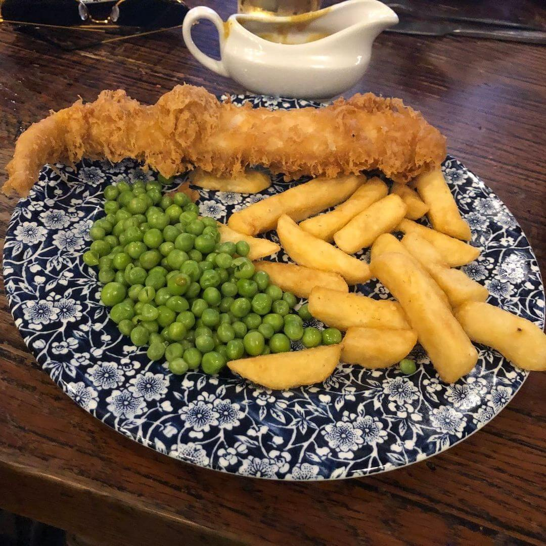Fish And Chips At Weather Spoons In North Wales