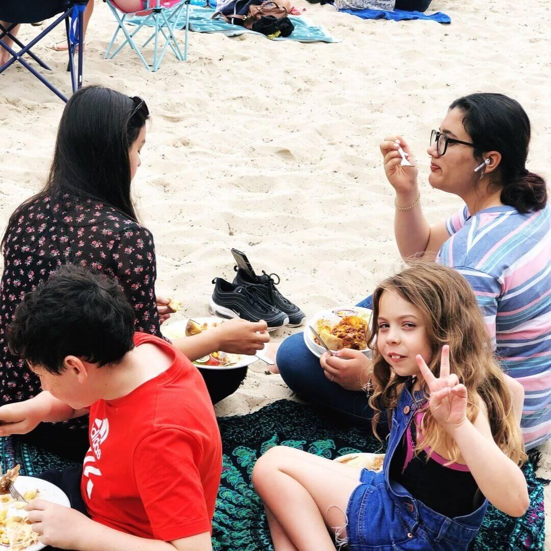 Eating On The Beach At The Ty Coch Inn On More Nefyn Beach