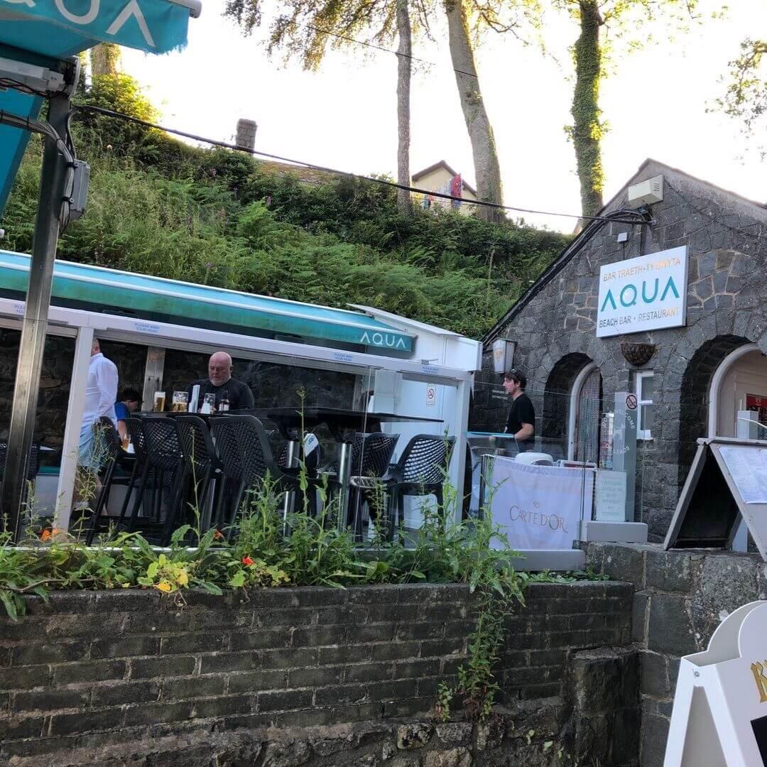 Aqua Beach Bar On Llanbedrog Beach