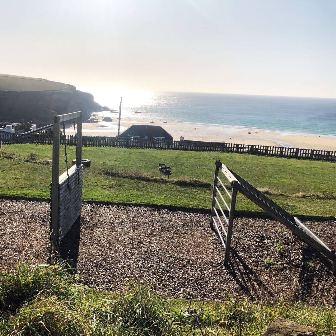 Outdoor Play Area At Bedruthan Hotel, Cornwall