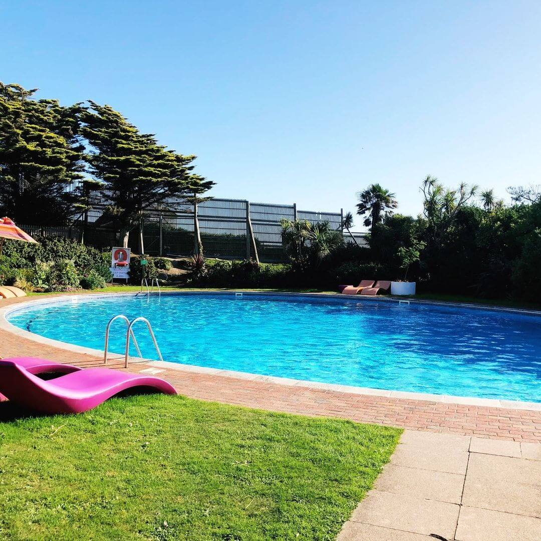 Outdoor Heated Pool At Bedruthan Hotel
