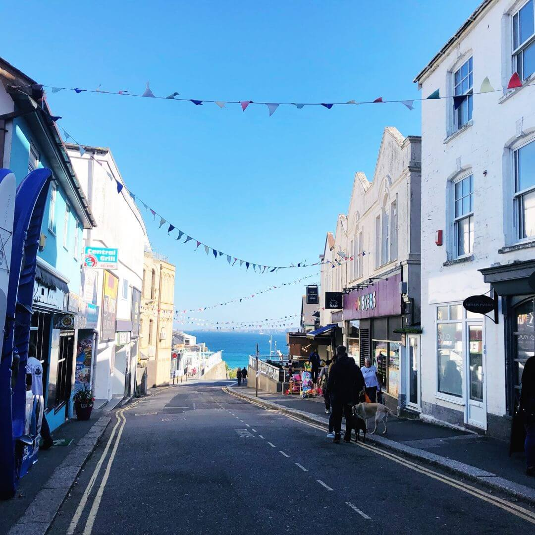 The Pretty Streets Of Newquay In Cornwall