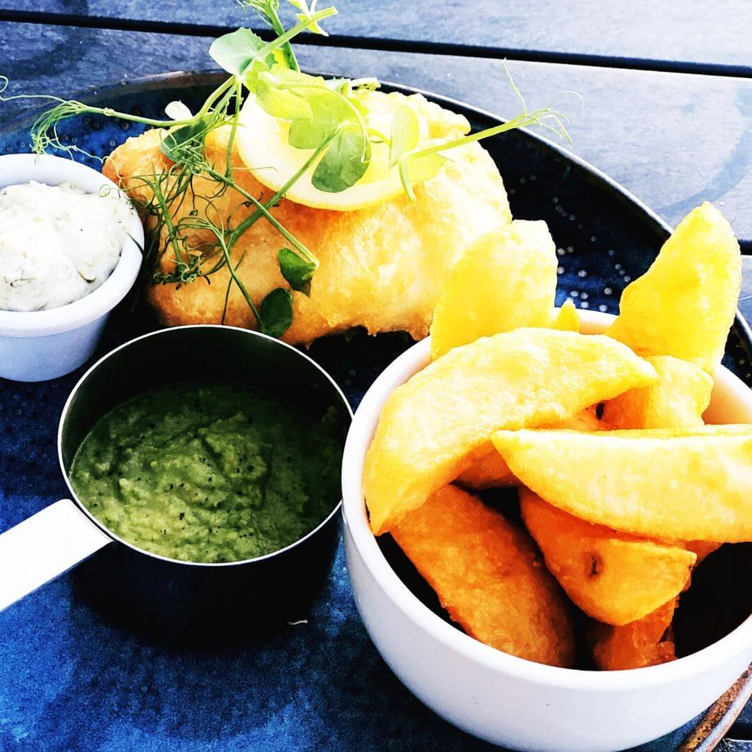 Plate Of Fish And Chips From Lewnnick Lodge