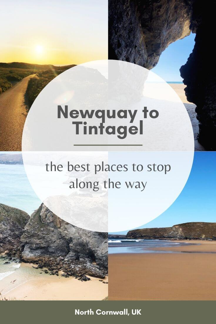 the best places to stop on the way from Newquay to Tintagel