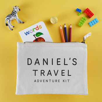 personalised gifts for traveling kids travel pouch