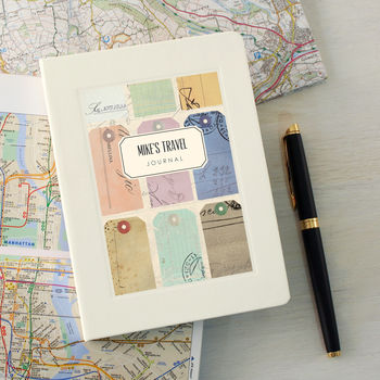 personalised gifts for travellers travel journal