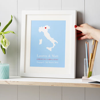 personalised travel print unique christmas gift