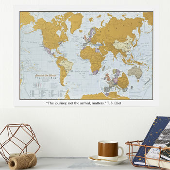 personalised gifts for travelers scratch map