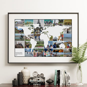 personalised gifts for travelers multiple photo poster