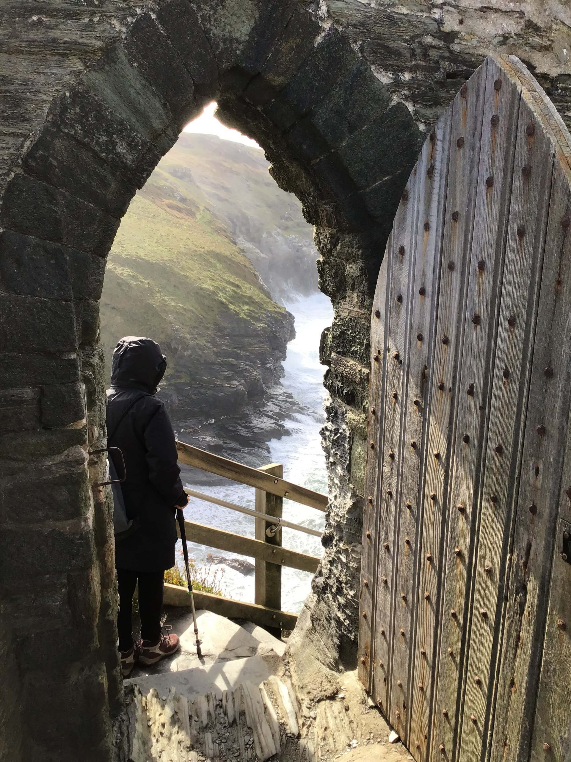 medieval doorway at tintagel castle
