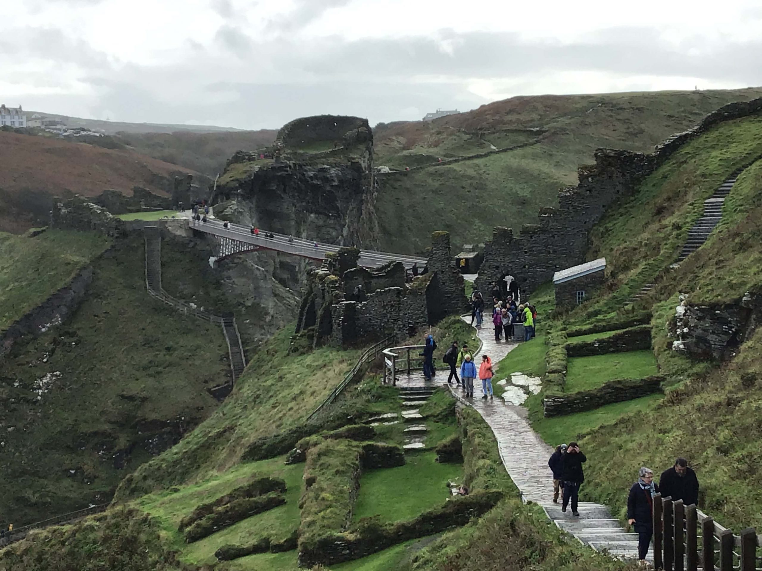 Tintagel Castle On A Rainy Day