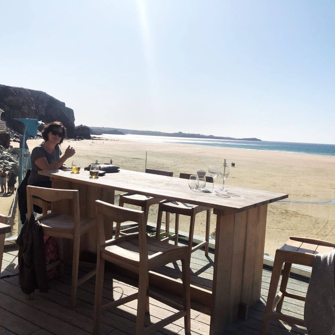 Beach Hut Views At Watergate Bay In North Cornwall