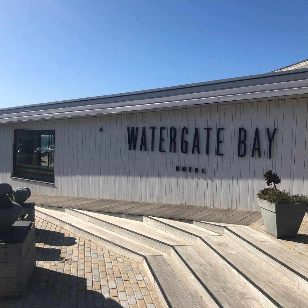 entrance to watergate bay hotel