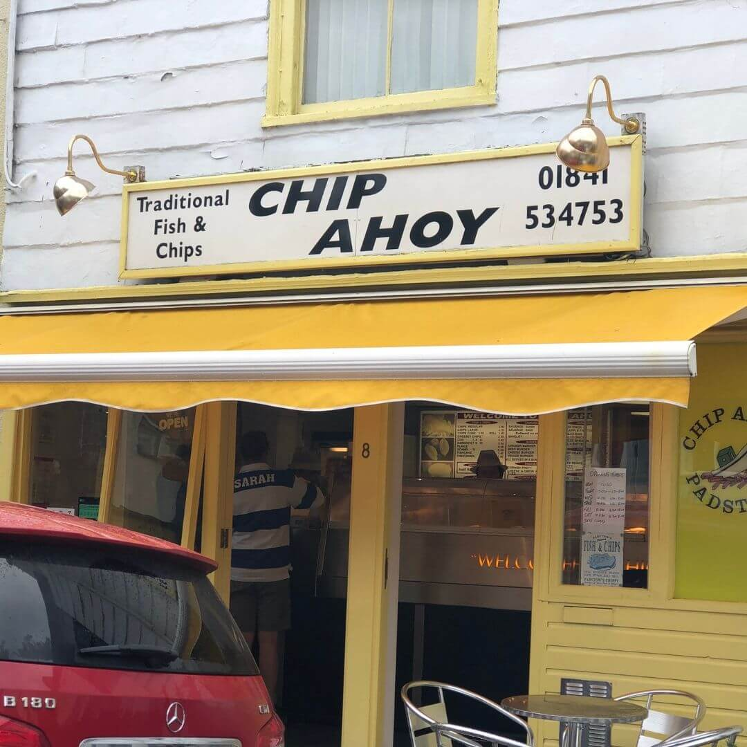 chip ahoy fish and chips shop in padstow