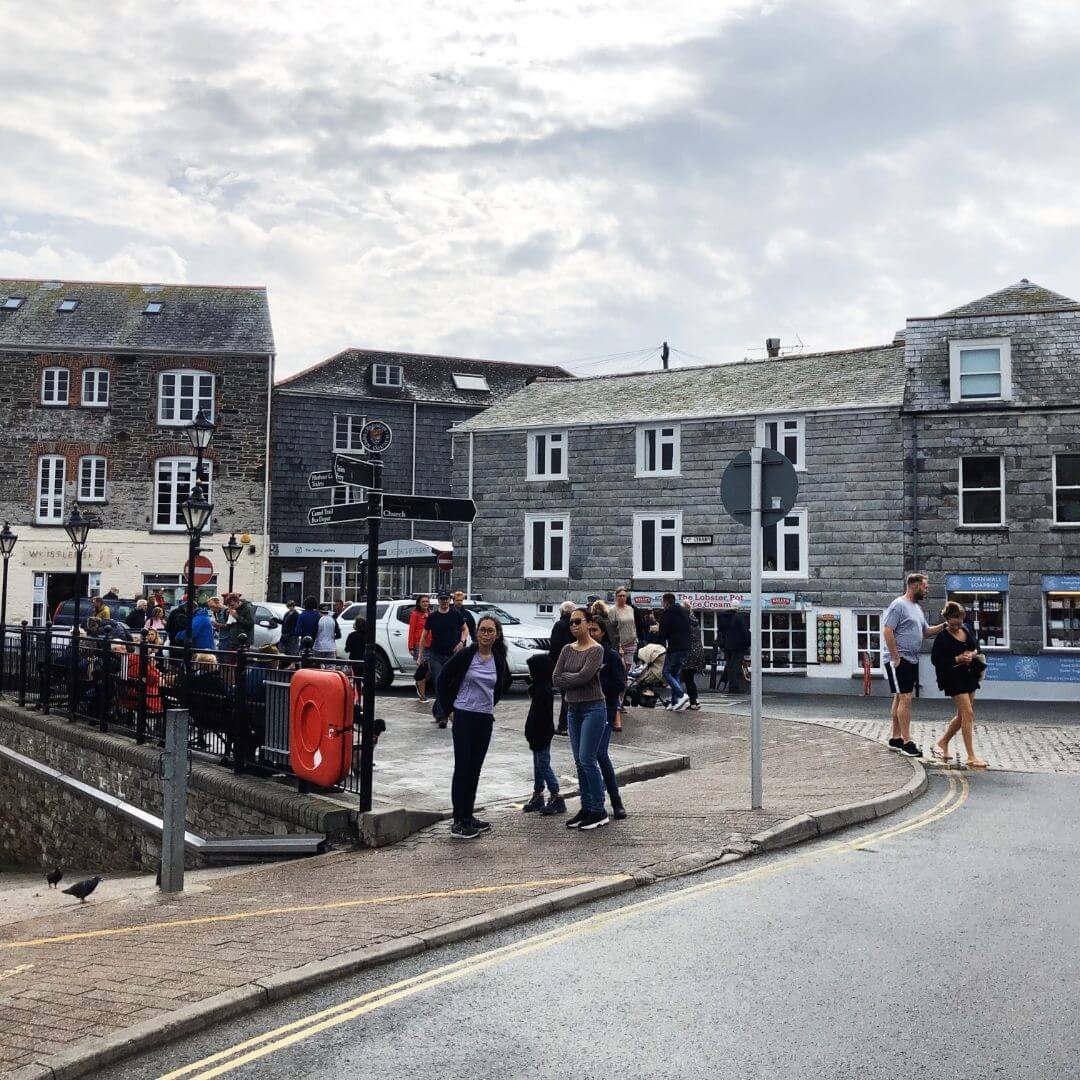 tourits on the streets in Padstow, cornwall