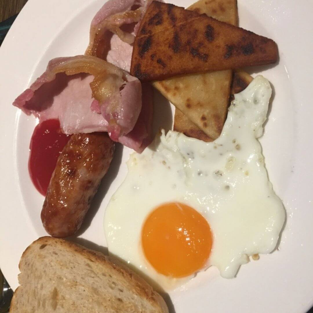 Cooked Breakfast Choices At The Macdonald Hotel In Aviemore