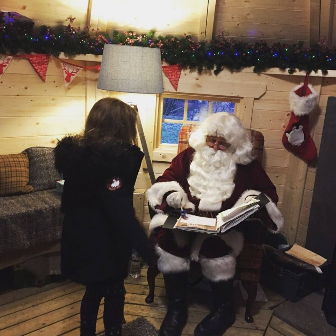 Meeting Santa At The Aviemore Santa Weekend