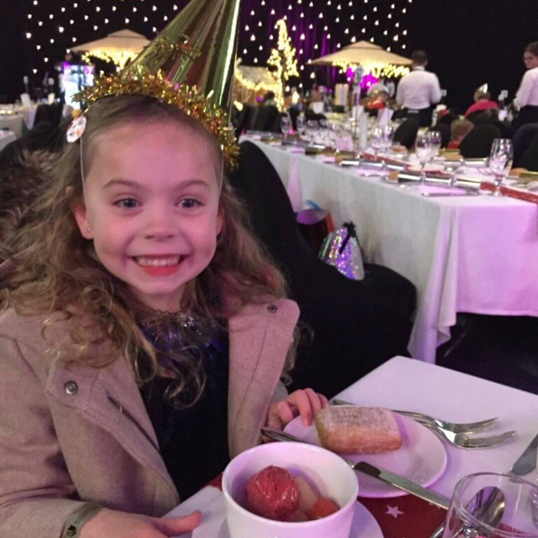 Piper Quinn Enjoying The Food At The Aviemore Santa Weekend