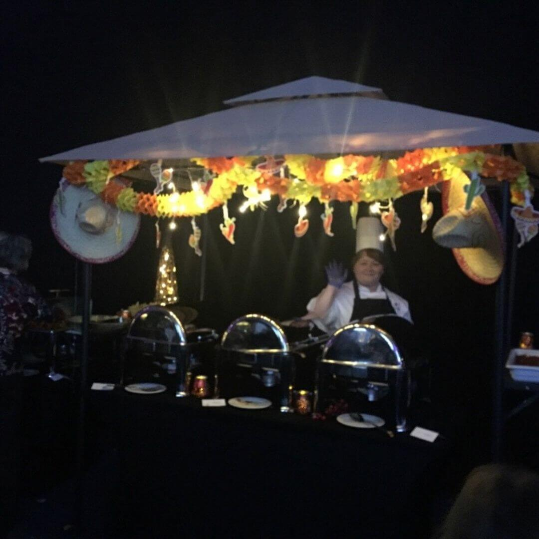 Street Food Stall At The Aviemore Santa Weekend