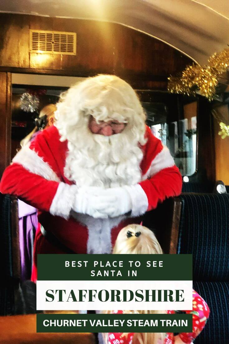 Churnet Valley Santa And Steam Train Experience In Staffordshire, Uk