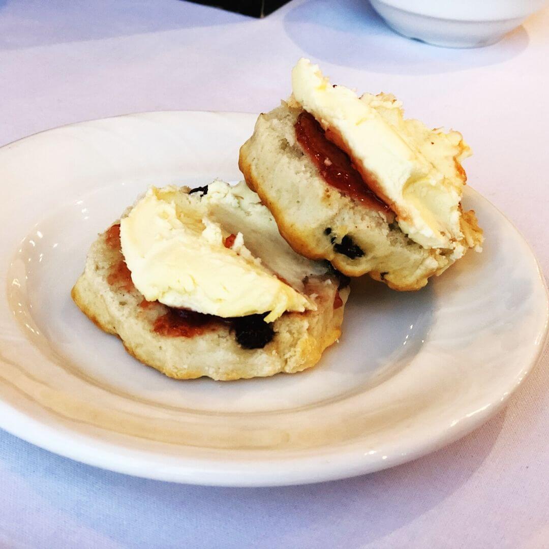 scones, jam and cream