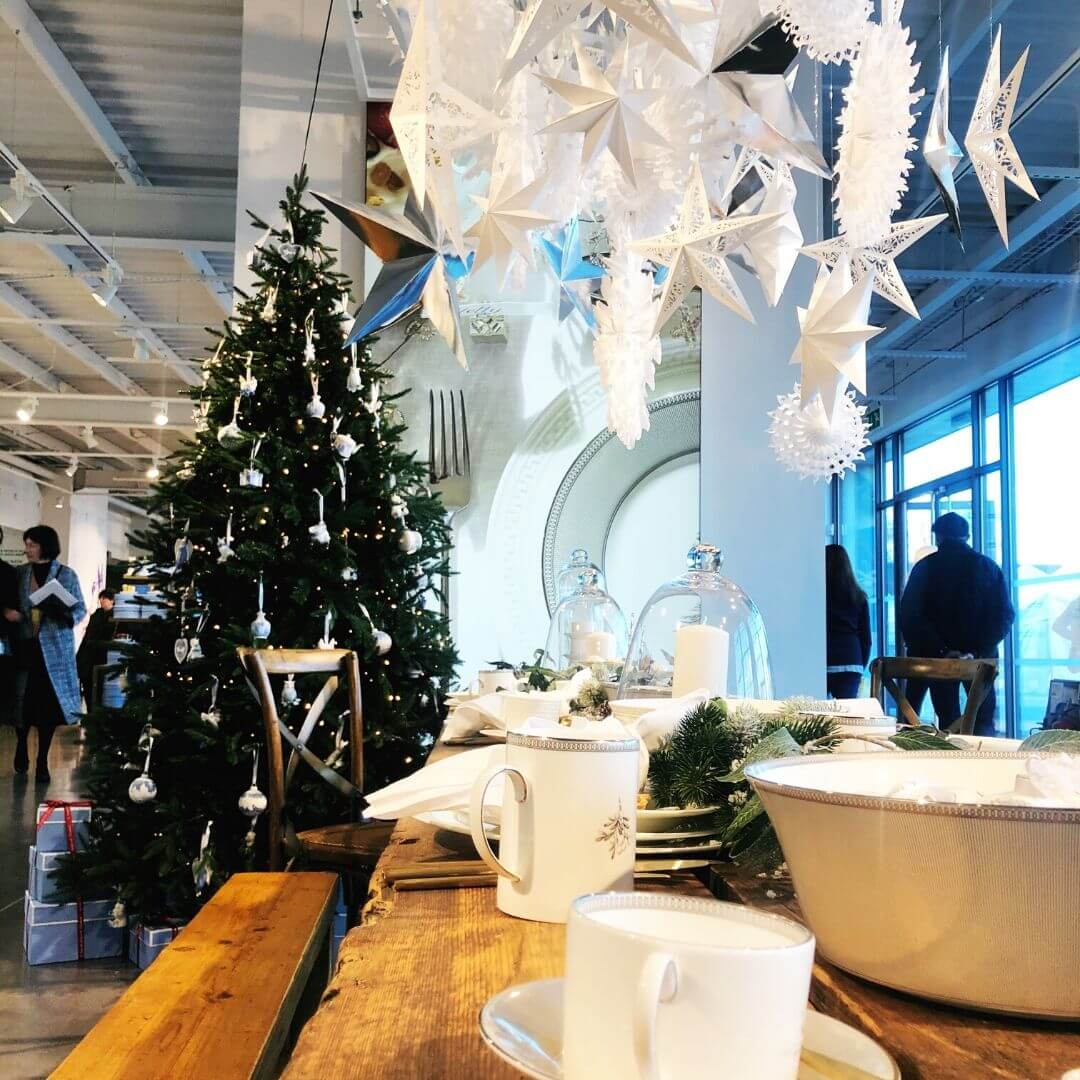 christmas decorations at the world of wedgwood