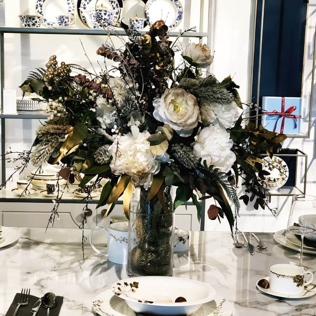 flower displays at world of wedgwood