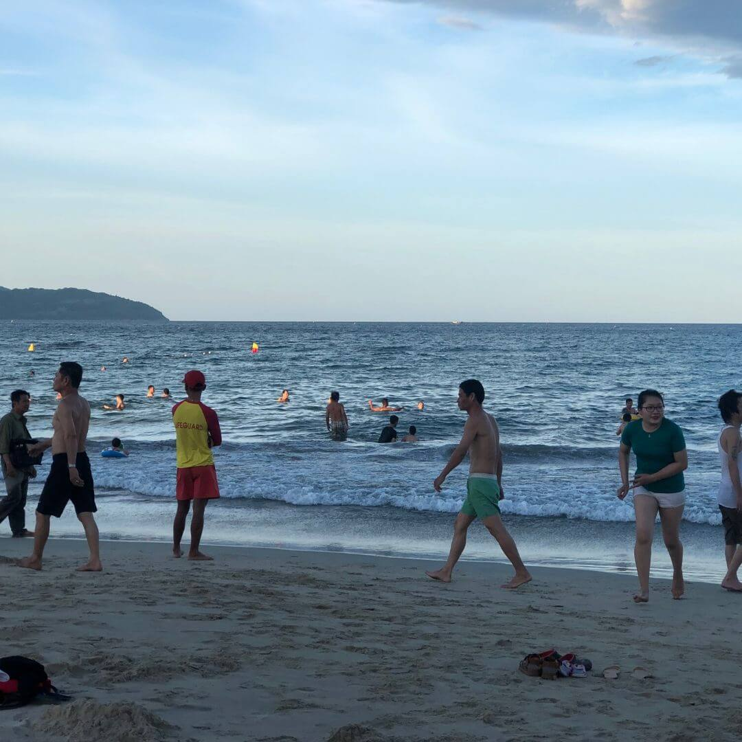 life guard on a Vietnamese beach