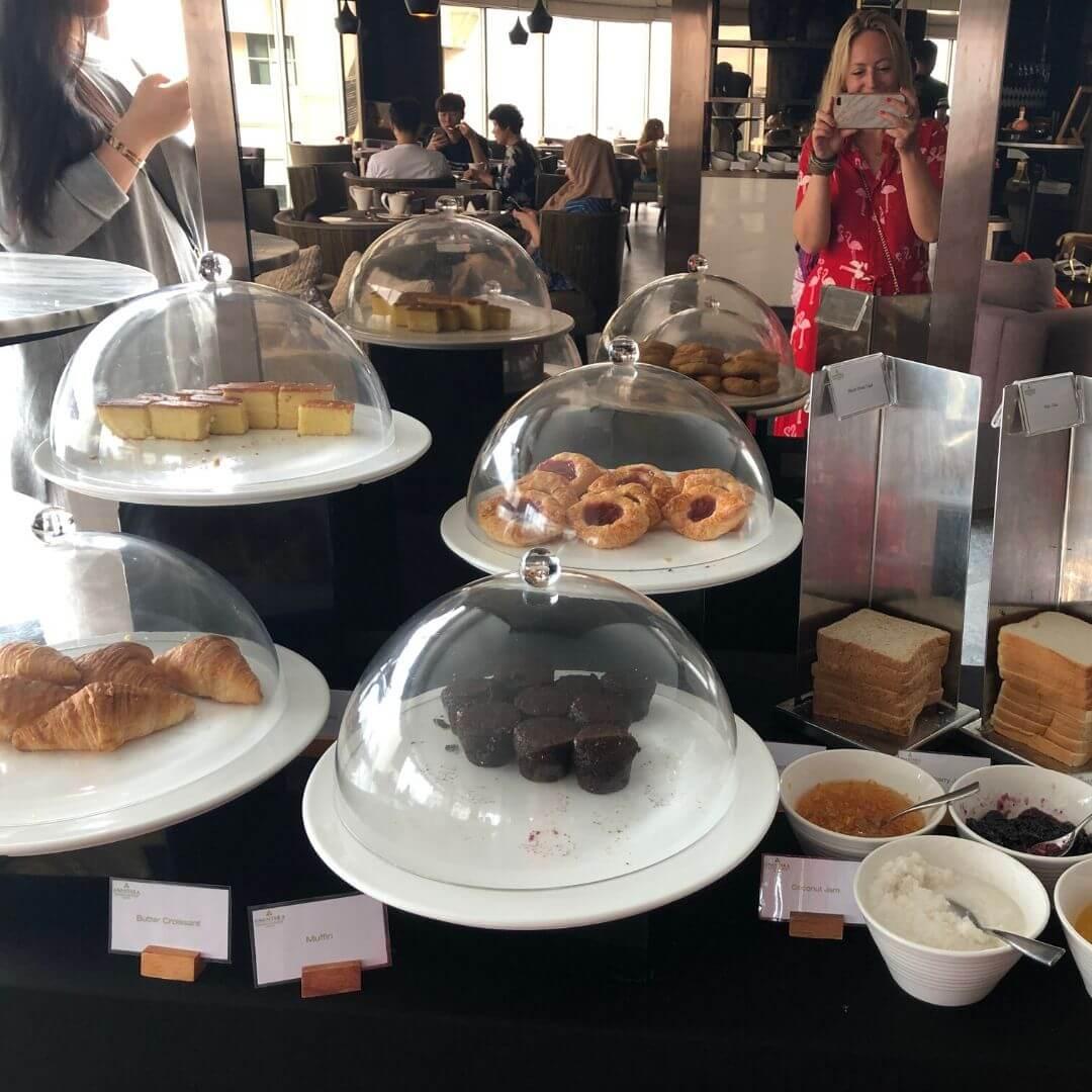sweet treats at the breakfast buffet at the anantara sathorn