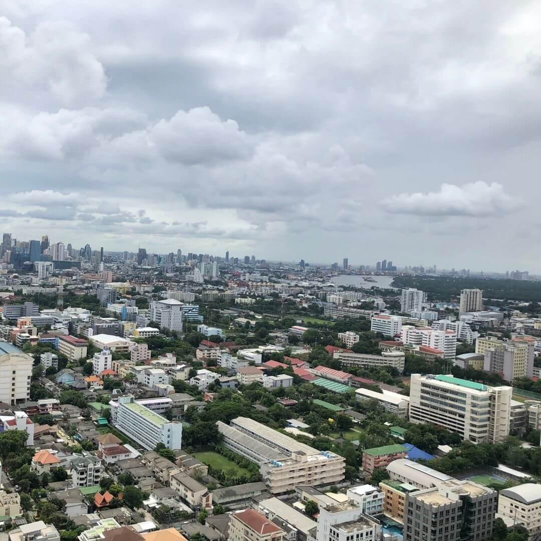 view of bangkok from zoom bar at the anantara sathorn