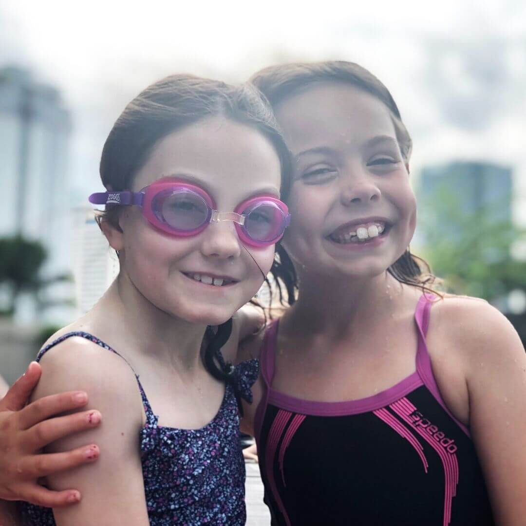 two smiling 9 year old girls