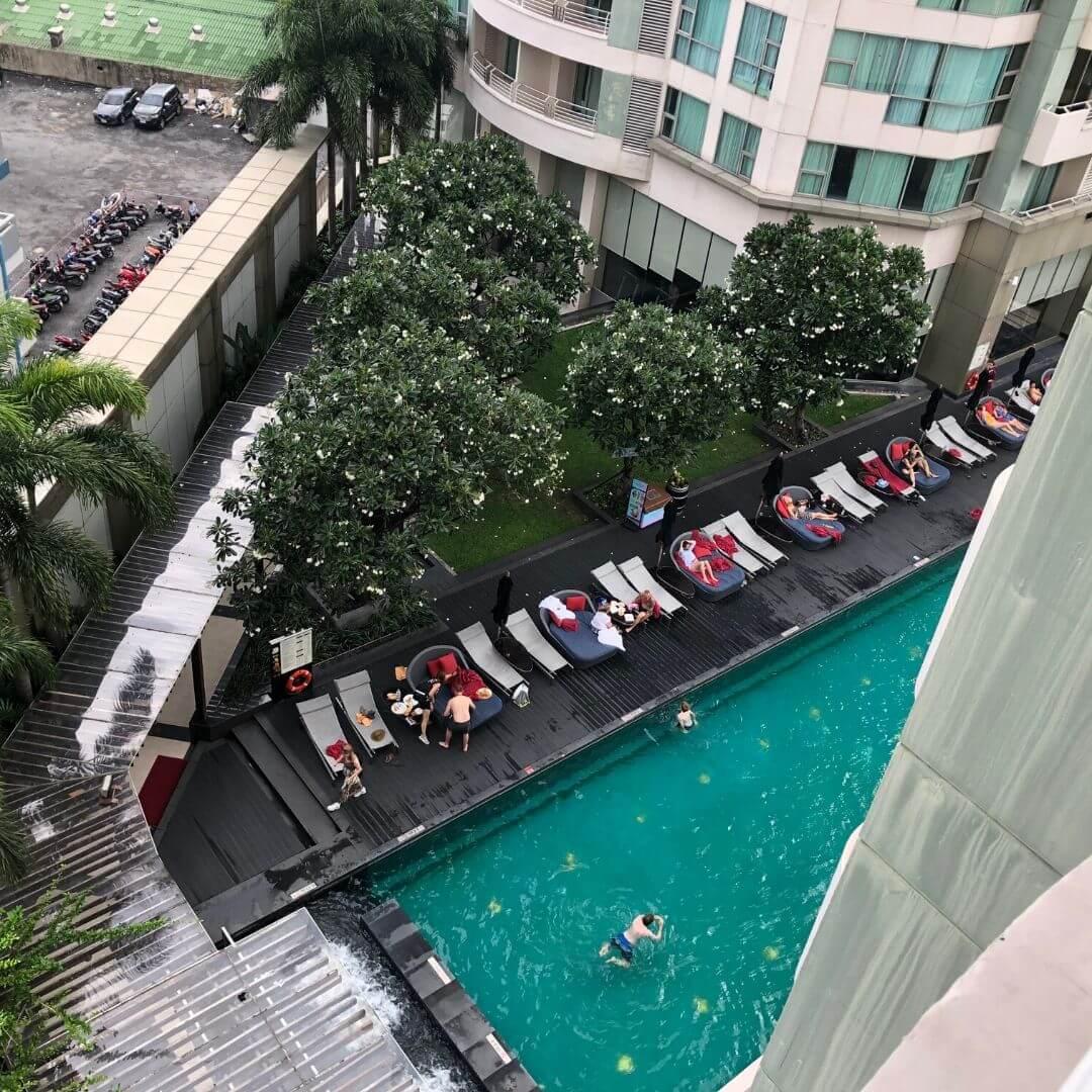 pool at the anantara from above