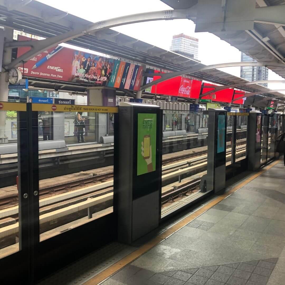train station near the anantara sathorn hotel in bangkok