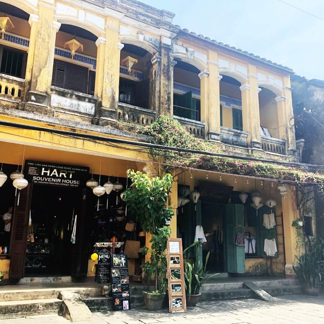 souvenir shop in hoi an, vietnam