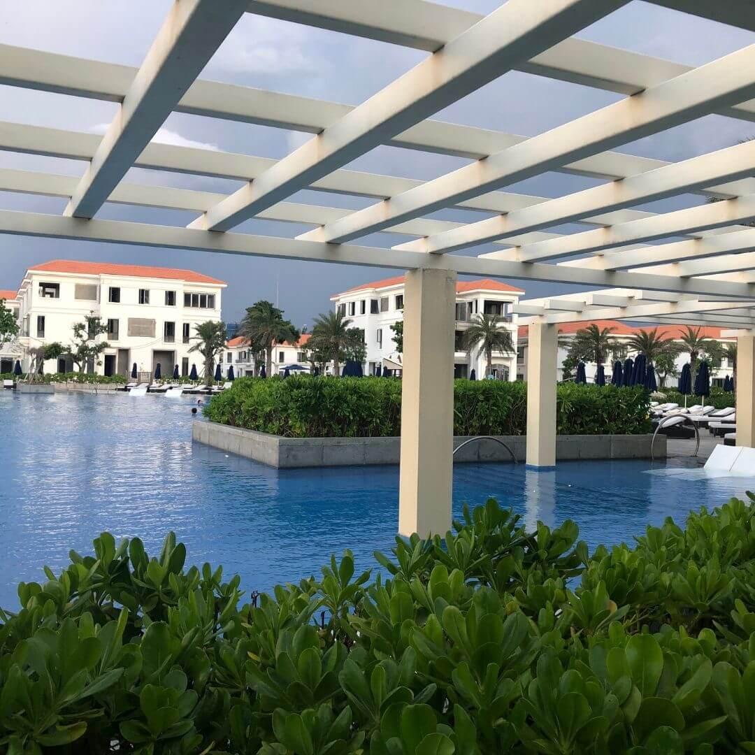 hotel pool in vietnam
