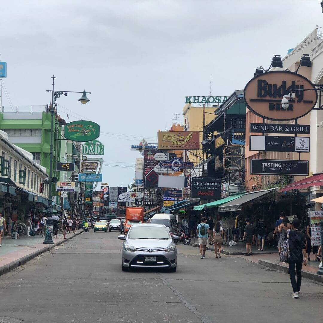the khao san road in bangkok