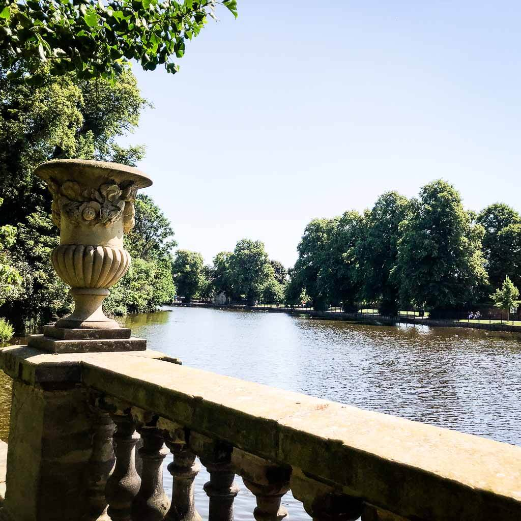 View Of The River In Lichfield