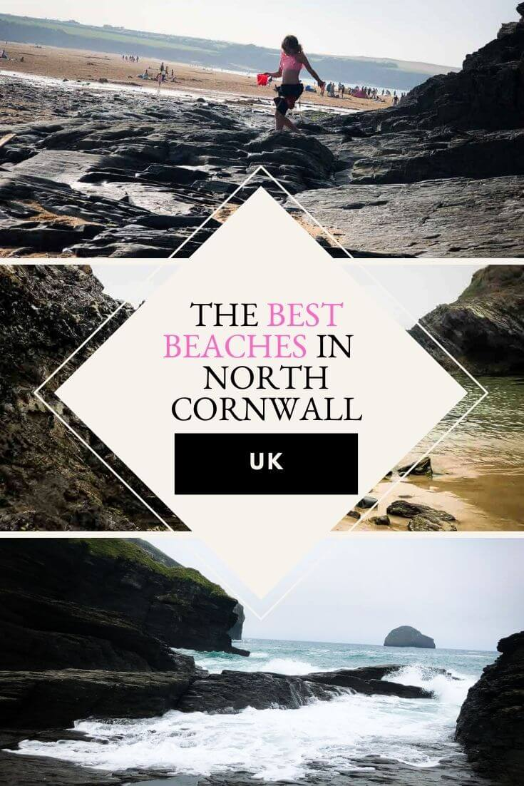 best beaches in north cornwall pin image