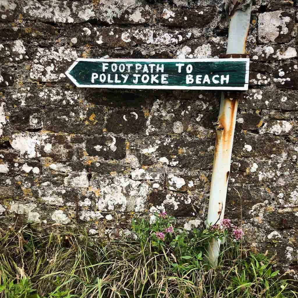 Polly Joke Beach Sign