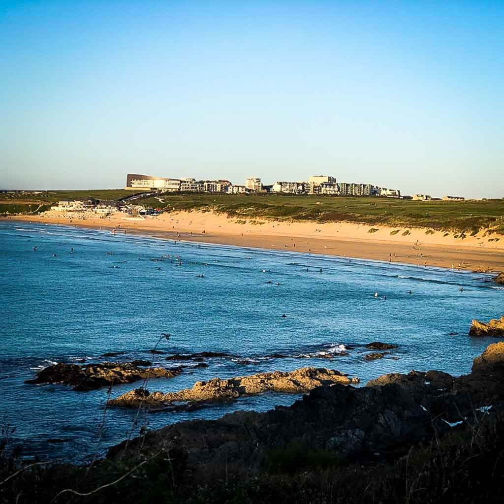 view of fistral beach