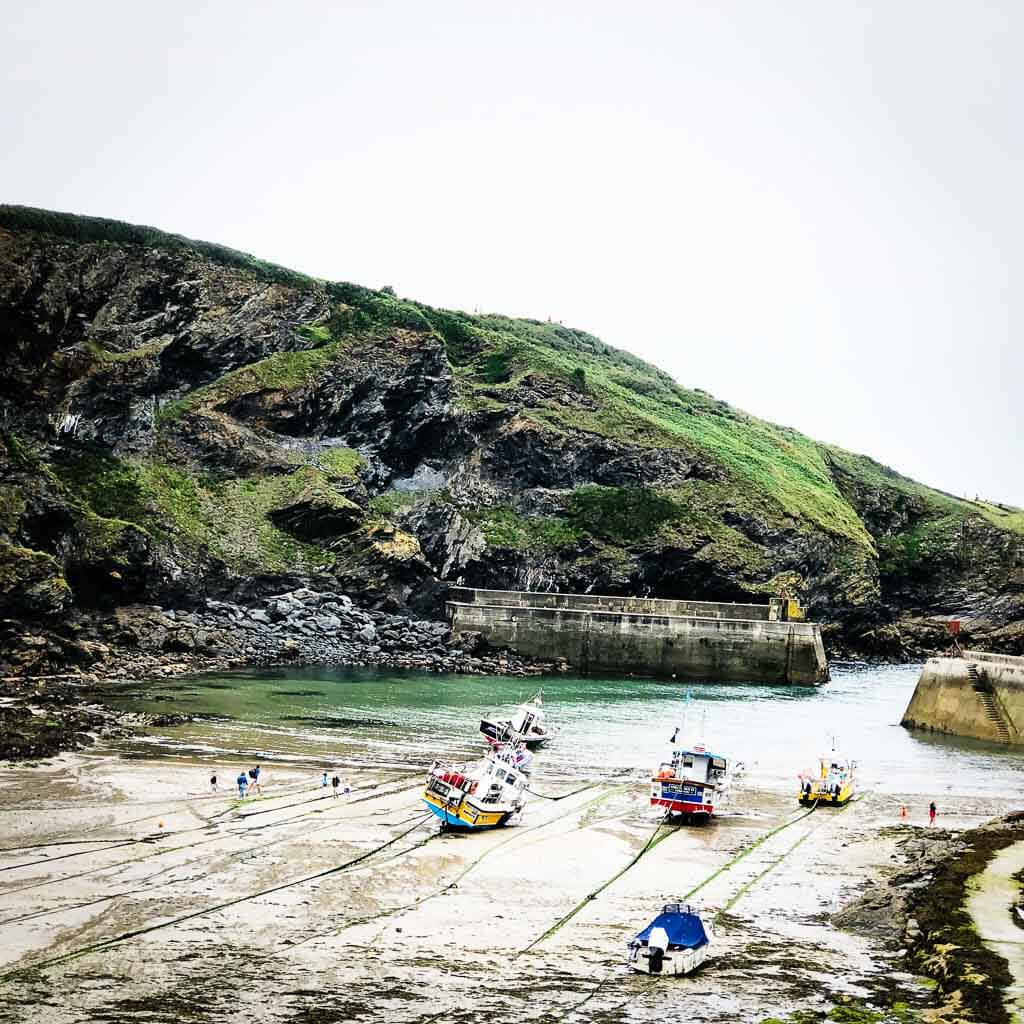 boats anchored at port isaac
