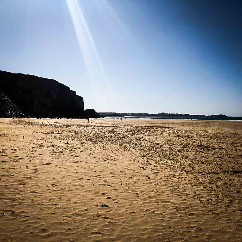 watergate bay beach in the summer