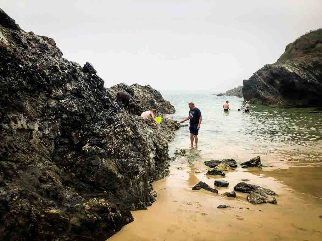 exploring a secret beach in north cornwall