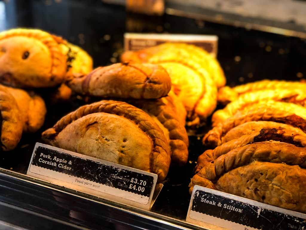 selection of cornish pasties