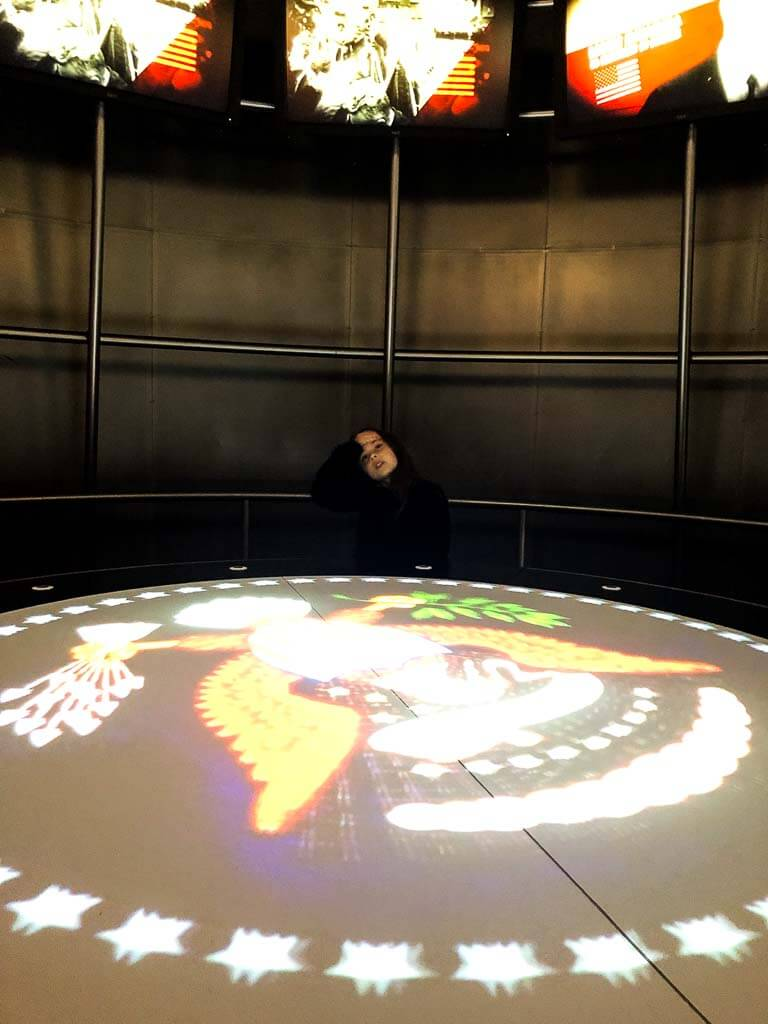 Girl In Interactive Kiosk Raf Cosford
