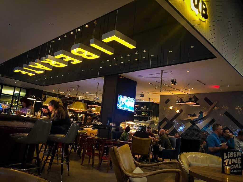 libertine social bar and restaurant, mandalay bay